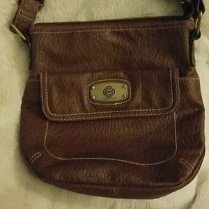 Handbags - Brown leather cross body  by treviso